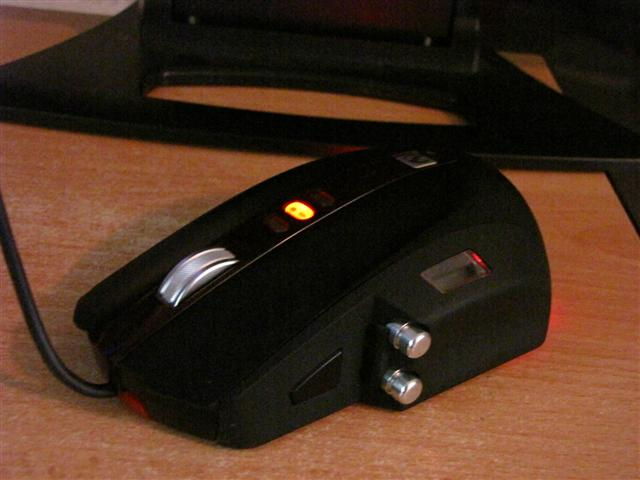 One of the best mice, the MS Sidewinder mouse.